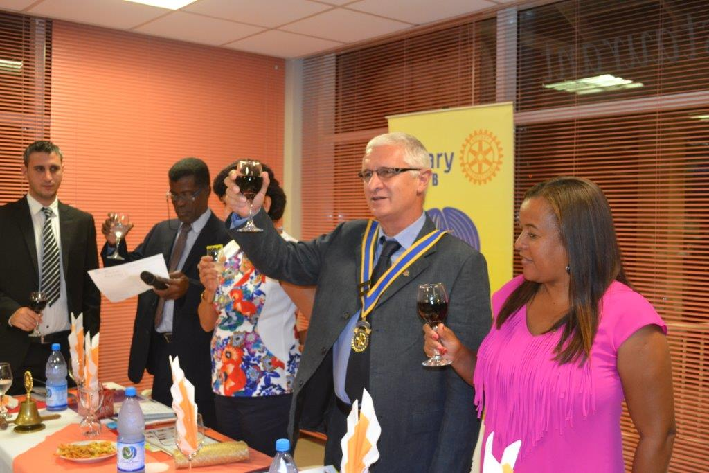 President Marco giving the toast to Rotary International