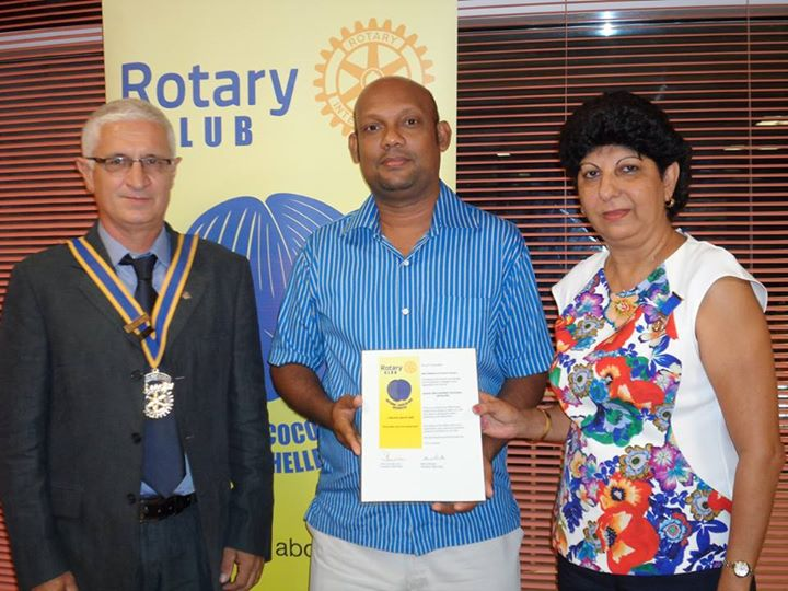 Cancer Concern Association receives a pledge for financial assistance from the club