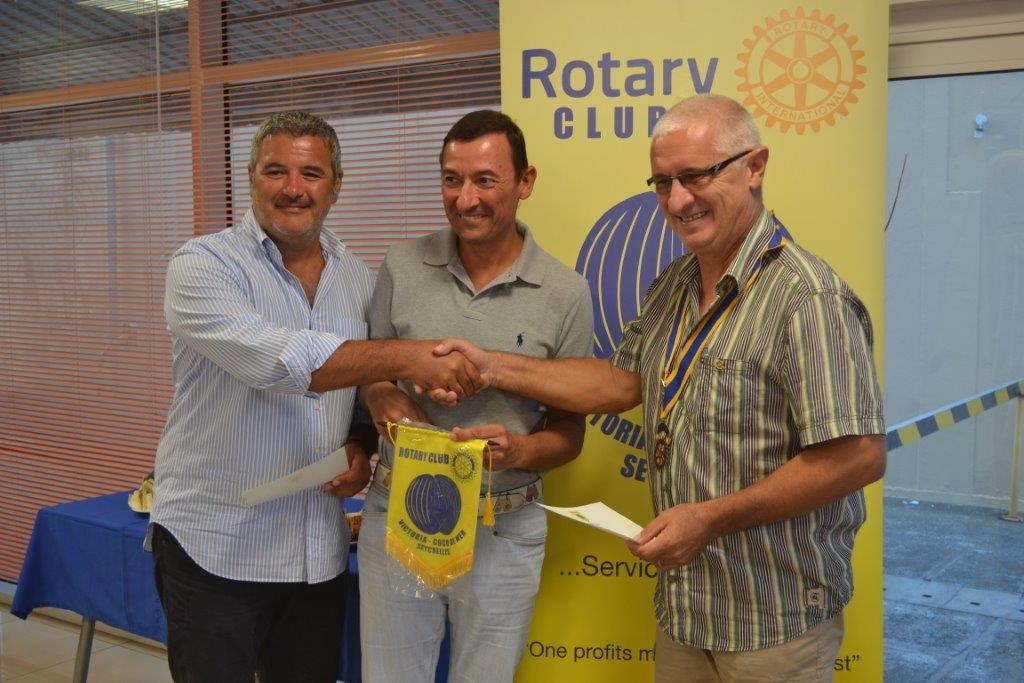 visiting Rotarians Enrico Lambiase and Antonio Locati of RC Malpensa Italy